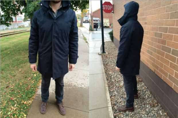 Navy Ventile Stylish Men's Raincoat