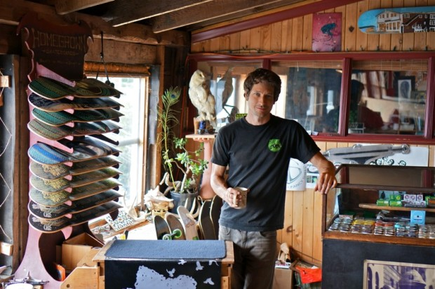 Jesse Watson, founder of Homegrown Skateboards