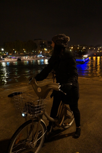 Bicycle seine river