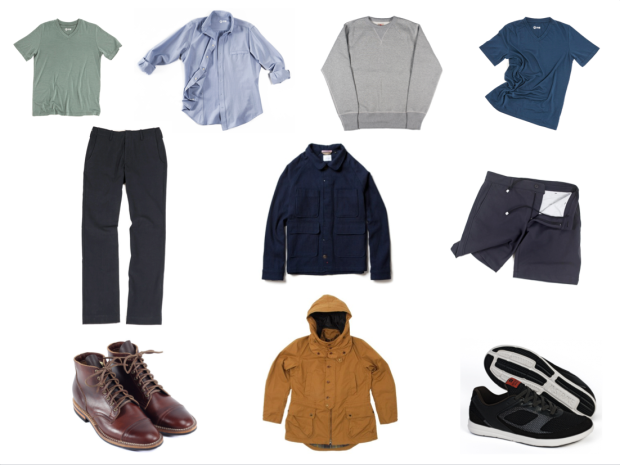 minimal clothes viberg barbour outlier apolis